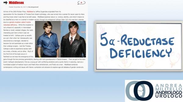 Carenza di 5α-reduttasi