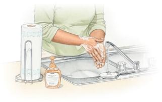 Lavarsi accuratamente le mani