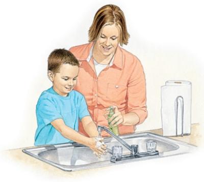 Occorre far lavare le mani ai bambini