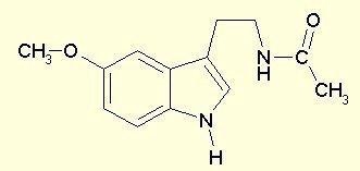 molecola della melatonina