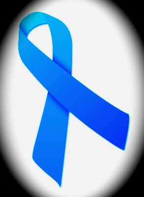 Nastro azzurro per la prevenzione cancro della prostata