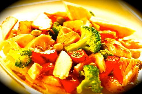 Piatto di Seitan e verdure