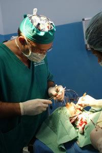 Chirurghi operano palatoschisi