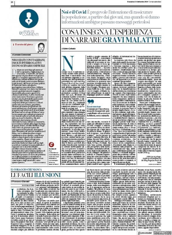Articolo Ragazze Fuori di Seno sul Corriere della Sera