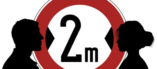 Sars distanza 2m